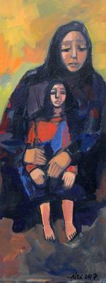 Grandmother and Granddaughter- Alex Khattab Diachroniki gallery