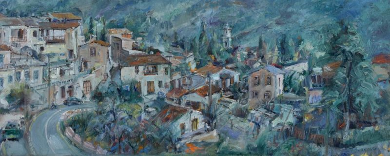 Morning Light. Vavla Village painting Paskalis Anastasi Diachroniki Gallery