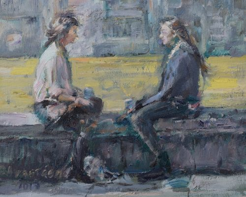 Two-Good-Friends painting Paskalis Anastasi Diachroniki Gallery