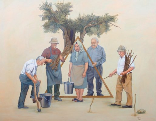 Cypriot painters George Gavriel Diachroniki Gallery