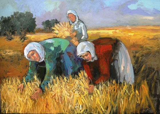 8904 A.Khattab Harvest acrylic on canvas 100x140cm