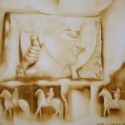 Athena painting Petros Ptohopoulos