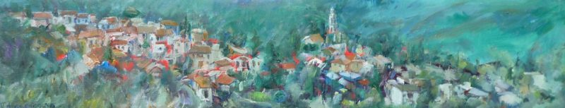 From the Hill painting Paskalis Anastasi Diahroniki Gallery