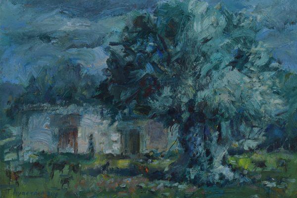 Parsata Green-painting Paskalis Anastasi Diachroniki Gallery