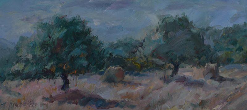 Sunrise.-Vavla painting Paskalis Anastasi Diachroniki Gallery