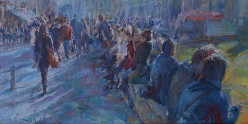 Solace painting Paskalis Anastasi Diachroniki Gallery