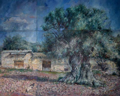 Maki's-Farm painting Paskalis Anastasi Diachroniki Gallery