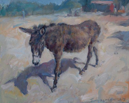 Finding Shelter painting Paskalis Anastasi Diachroniki Gallery