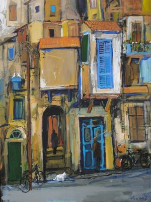 Old Nicosia Painting Alex Khattab