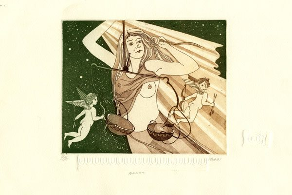 Woman-Libra-aquatint-Printing-Diachroniki Gallery