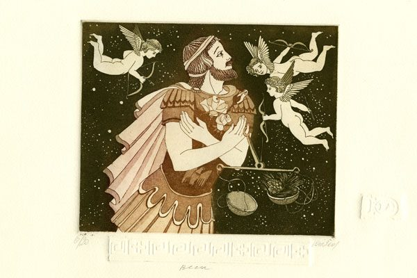 Man-Libra-aquatint-Printing-Diachroniki Gallery