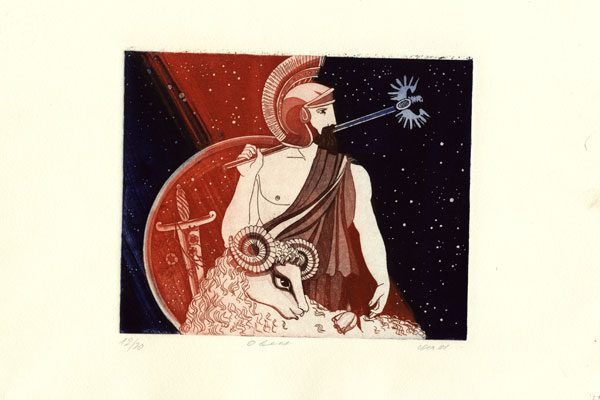 Man-Aries-aquatint-Diachroniki Gallery