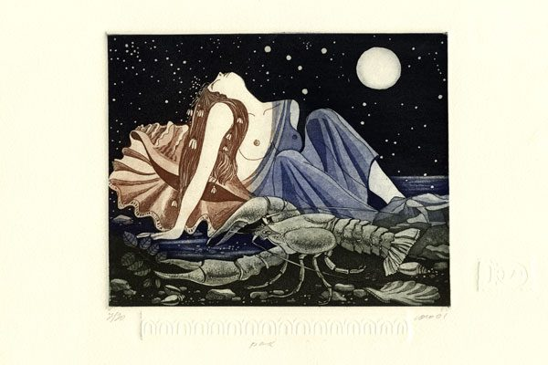 Woman-Cancer-aquatint-Printing-Diachroniki Gallery