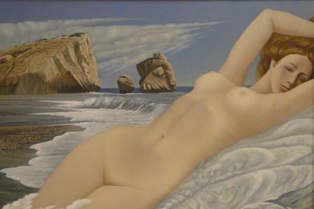 Oleg Basaev Modern Aphrodite painting Diachroniki Gallery Cyprus