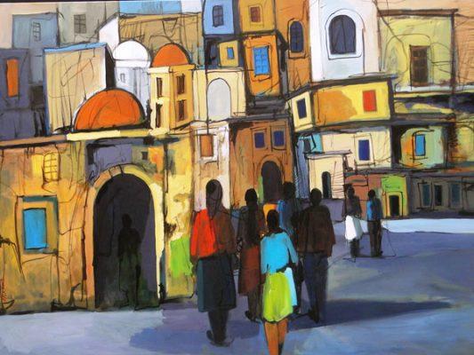 9582 Old Nicosia acrylic on canvas 90x120cm